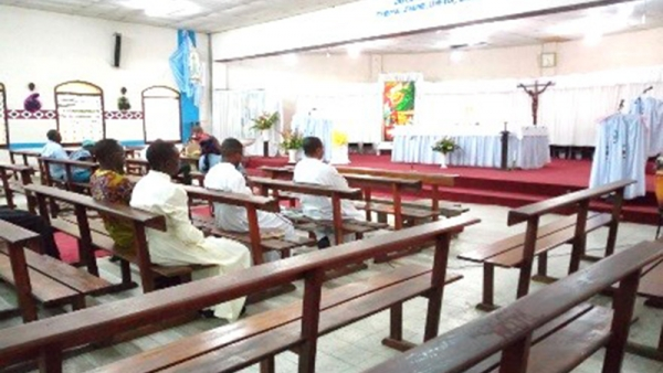 Parish of Blessed Anuarite: Adoration animated by the SSS Scholastics