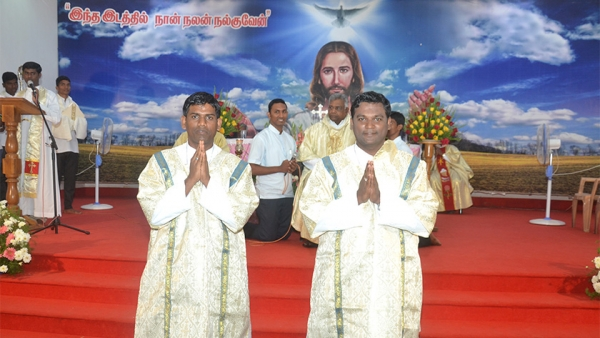 Two Professed Final Vows and Ordained Deacons in India