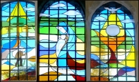 New stained-glass windows in the Eymard Chapel