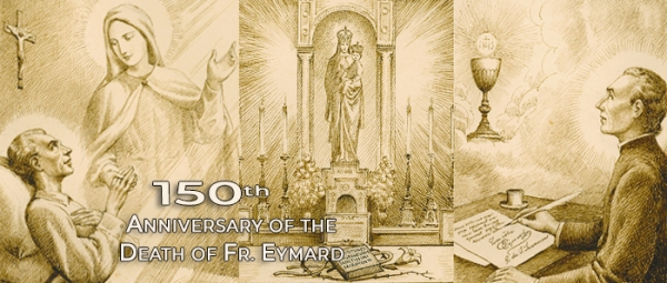 May 23, 1855 - Father Eymard placed the project of his Constitutions on the altar of Mary